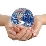 Planet earth in hand. Stock Images