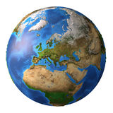 Planet Earth in high resolution stock illustration