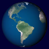 Planet Earth with highlight in America Royalty Free Stock Photography