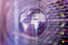 Planet Earth Hologram Globe Global communication World Wide Business concept. Planet Earth Hologram Globe Global communication World Wide Business concept royalty free stock photo