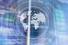 Planet Earth Hologram Globe Global communication World Wide Business concept. Planet Earth Hologram Globe Global communication World Wide Business concept stock images