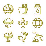 Planet Earth icons Royalty Free Stock Photos