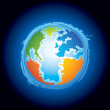 Planet earth illustration. An illustration of the planet earth Stock Image