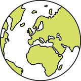 Planet Earth. Illustration with Europe in center royalty free illustration