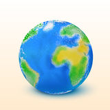Planet earth 01. Illustration of earth globe isolated on bright background Stock Images