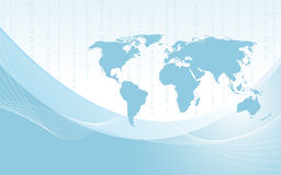 Planet earth informational stream. Vector Stock Photos