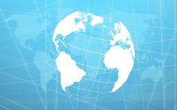 Planet earth informational stream. Vector illustration. Clip-art Stock Image