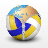 Planet Earth inside volleyball ball Stock Image