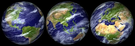 Planet Earth Isolated - PNG Stock Images