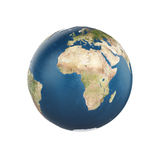 Planet earth isolated on white background Royalty Free Stock Photo
