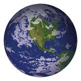 Planet Earth, isolated on white Royalty Free Stock Photos