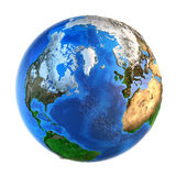 Planet Earth landforms from a Northern perspective Royalty Free Stock Photos