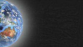 Planet Earth in left part of screen and stars Royalty Free Stock Photography