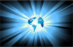 Planet Earth Light background Royalty Free Stock Image
