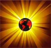 Planet Earth Light background Stock Photography