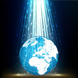 PLANET EARTH LIGHT BACKGROUND Stock Images