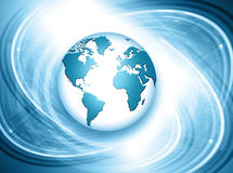 Planet earth and light Royalty Free Stock Images