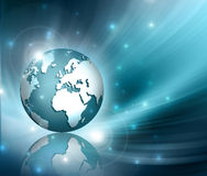 Planet earth and light Stock Photography