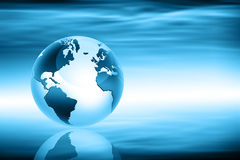 Planet earth and light Royalty Free Stock Image