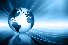 Planet earth and light. Best Internet Concept of global business from concepts series Stock Image