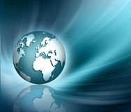 Planet earth and light. Best Internet Concept of global business from concepts series Stock Images