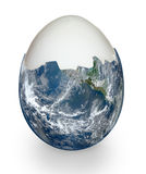 Planet earth like egg shell Royalty Free Stock Image