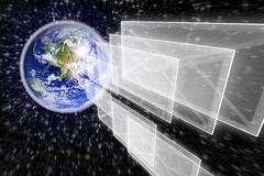 Planet earth and mail the envelope Royalty Free Stock Photos