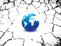 Planet earth map with crack Royalty Free Stock Photography