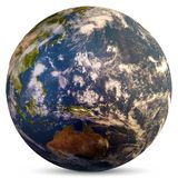 Planet Earth map. Elements of this image furnished by NASA. 3d rendering stock illustration