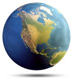 Planet Earth map stock images