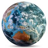 Planet Earth map. Elements of this image furnished by NASA. 3d rendering royalty free stock photography
