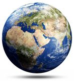 Planet Earth map globe. Elements of this image furnished by NASA. 3d rendering stock illustration