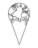 planet earth melting icon Royalty Free Stock Photography