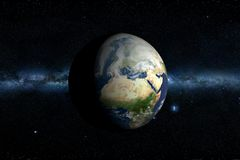 Planet Earth & Milky Way Royalty Free Stock Photography