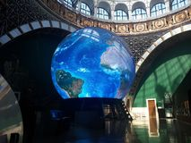 Planet Earth in the museum in Moscow stock photo