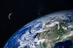 Planet Earth and moon Royalty Free Stock Photo