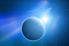 Planet Earth with Moon Royalty Free Stock Photo