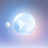Planet Earth and Moon. Vector Royalty Free Stock Photos