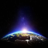 Planet Earth night stock illustration