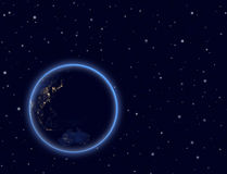 Planet earth on night sky. Australia and part of A. Elements of this image furnished by NASA Stock Photography