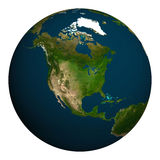 Planet earth. North America. Royalty Free Stock Images
