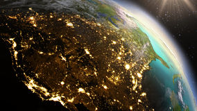 Planet Earth North America zone using satellite imagery NASA. Planet Earth North America zone. Elements of this image furnished by NASA royalty free stock photography