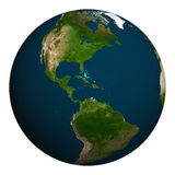 Planet earth. North and South America. Stock Photography