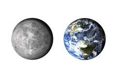 Planet earth. Now and before. Climat concept model. stock images