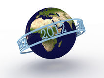 Planet earth with numbers 2012. 3D. Image Vector Illustration