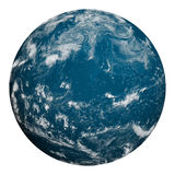 Planet earth. Ocean and clouds. Royalty Free Stock Images