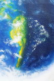 Planet earth. Original painting on canvas. African continent. Royalty Free Stock Photo