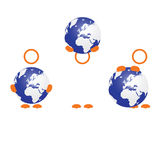 Planet earth with people icon vector Stock Photos