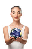 Planet earth protection Royalty Free Stock Image