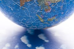 Planet earth from puzzle Royalty Free Stock Images